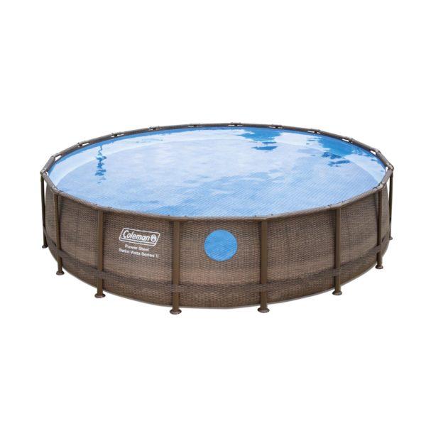 Coleman® 18′ x 48″ Power Steel Swim Vista Series II Swimming Pool Set