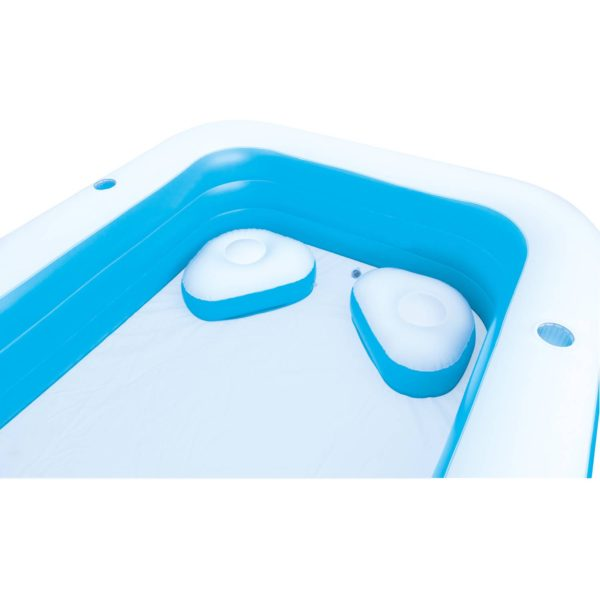 H2OGO! 10′ Blue Rectangle Inflatable Pool