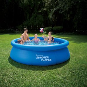 Summer Waves® 10′ x 30″ Quick Set Ring Pool with 600 GPH Filter Pump