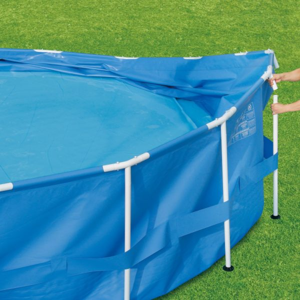 Summer Waves® 15′ x 42″ Active Frame Pool with Filter Pump, Cover, and Ladder